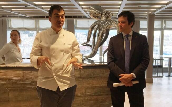 Outra novidade tanto para o Brasil quanto para a MSC é o chef espanhol Ramón Freixa (à esquerda), com o Ocean Cay