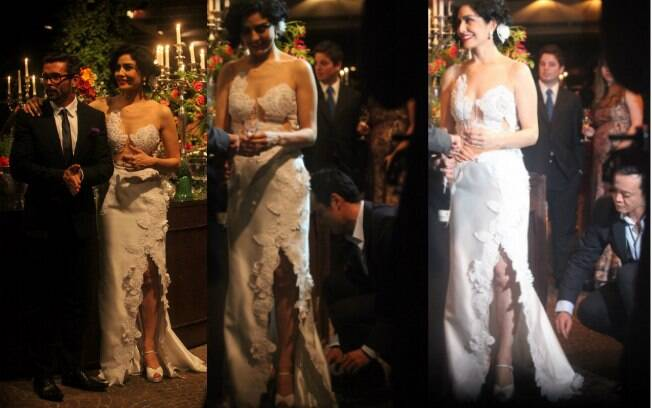 Veja o vestido de Letícia Sabatella