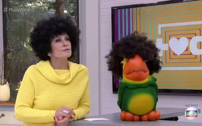 Ana Maria Braga e louro José usaram peruca black power no