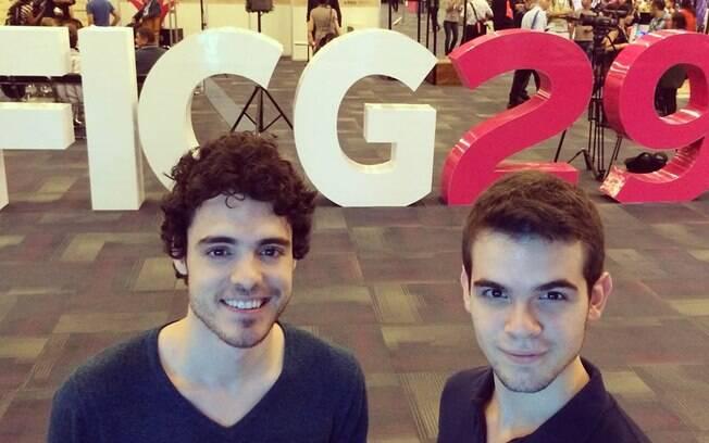 Fábio Audi e Guilherme Lobo no Festival de Guadalajara . Foto: Reprodução/Instagram