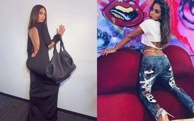 Anitta e Kim Kardashian aderiram à moda da calcinha fio dental