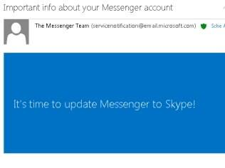 E-mail da Microsoft enviado nesta quarta-feira orienta usuários sobre migração da conta para Skype