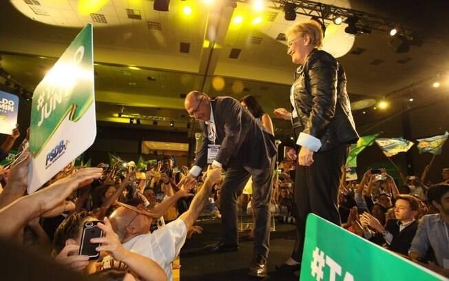 Candidatos à Presidência: com 288 votos favoráveis, Geraldo Alckmin foi oficializado pelo PSDB na corrida ao Planalto