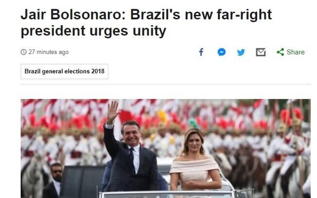 Posse de Jair Bolsonaro foi destaque na BBC