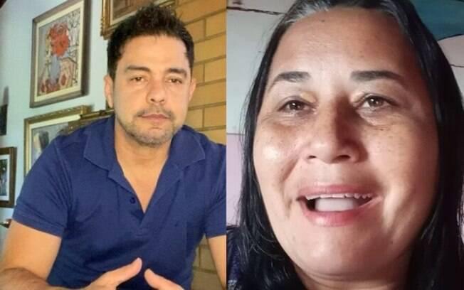Zezé Di Camargo e Cléo Loyola