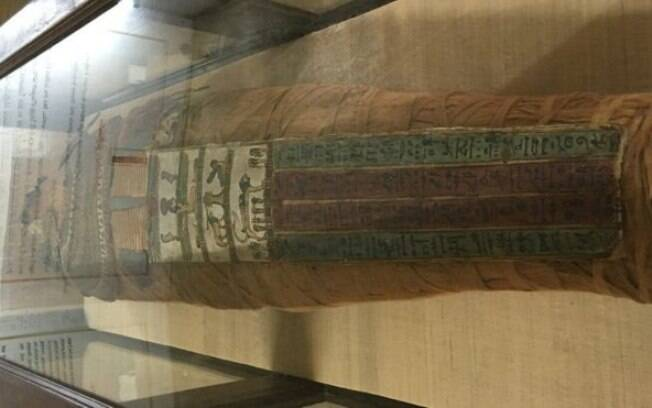 A múmia, agora totalmente restaurada, está no museu de Hyderabad, na Índia