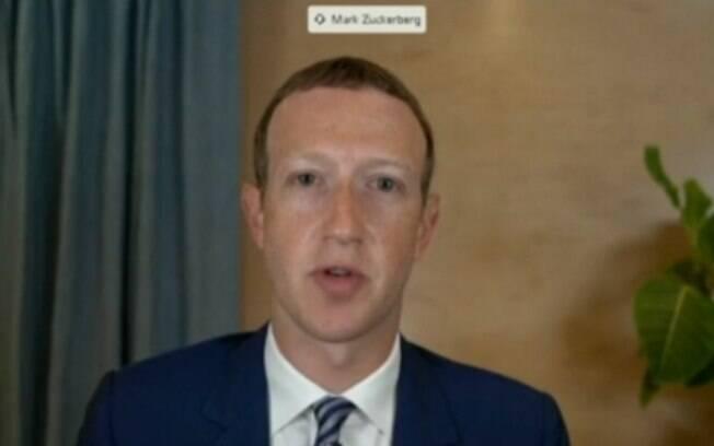 Mark Zuckerberg durante depoimento ao Senado dos EUA