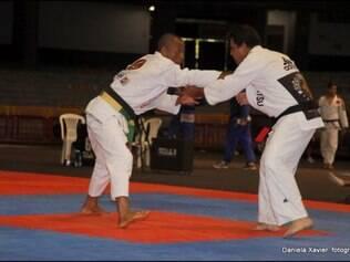 Sérgio Santiago, de Betim, faturou o primeiro lugar na categoria master médio (faixa preta)