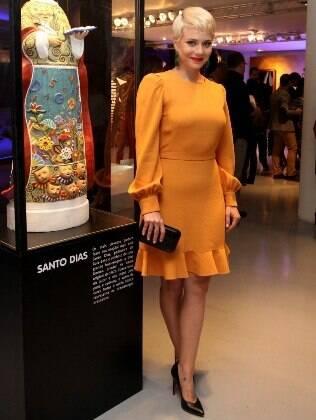 Leandra Leal participa da festa de lançamento da novela Saramandaia
