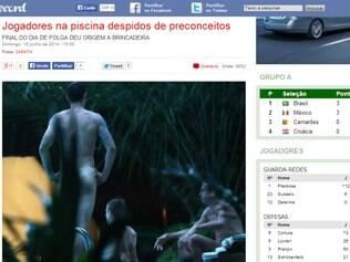 Diário português divulga imagens dos jogadores sem roupa