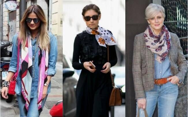 Usar lenços e echarpes na primavera pode ser algo fácil se você souber escolher o acessório certo para compor o look
