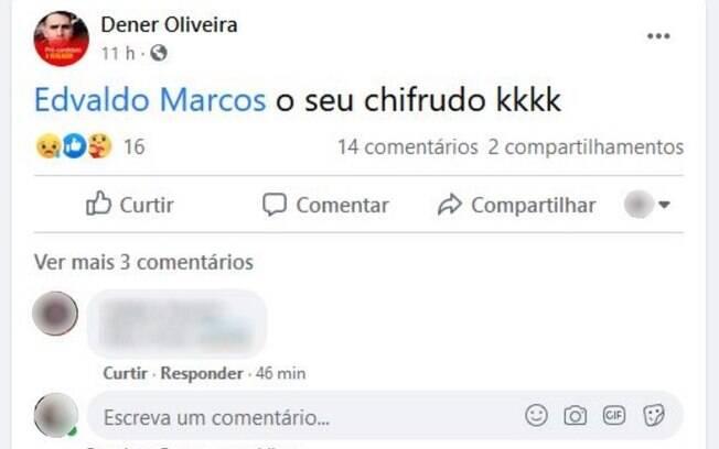 Crime ocorreu depois que Dener Silva fez um post chamando o primo de