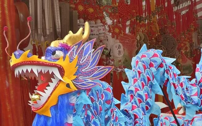 Comemoração do Ano Novo Chinês, o ano do Macaco