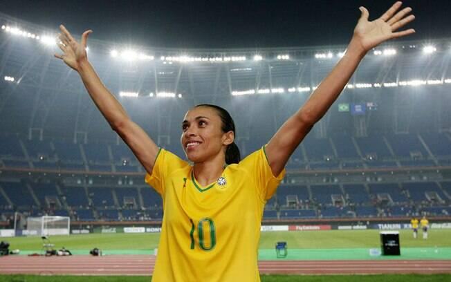 A jogadora Marta é uma das maiores de todos os tempos