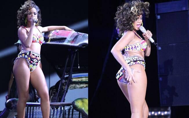 Rihanna durante uma apresentação