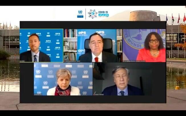 Coletiva de imprensa 'Saúde e Economia para Enfrentar Covid-19' da Cepal, braço da ONU na América Latina