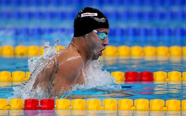 O nadador Thiago Pereira participa do Mundial de Esportes Aquáticos de Kazan