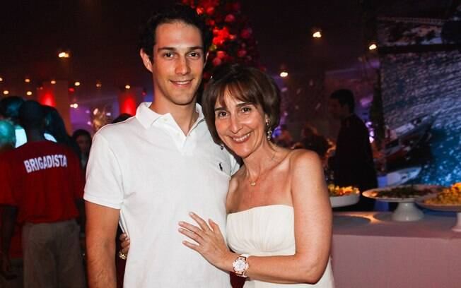 Bruno Senna foi acompanhado da mãe, Viviane Senna