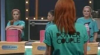 Discussão marca primeira prova feminina do reality show de casais