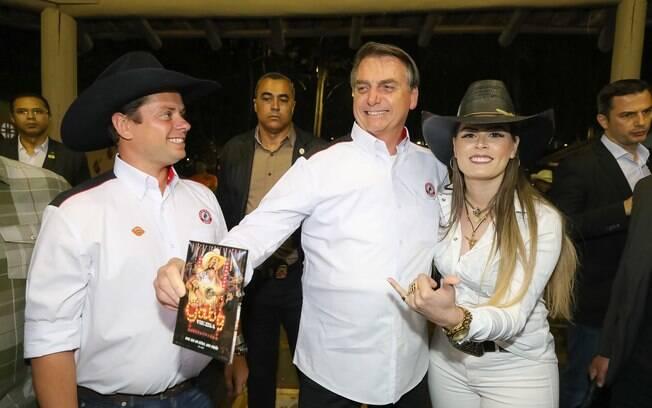 Presidente também participou do tradicional jantar da queima do alho, em Barreiros