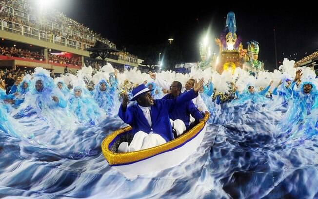 Imagem do desfile da Portela, campeã do carnaval do Rio de Janeiro em 2017