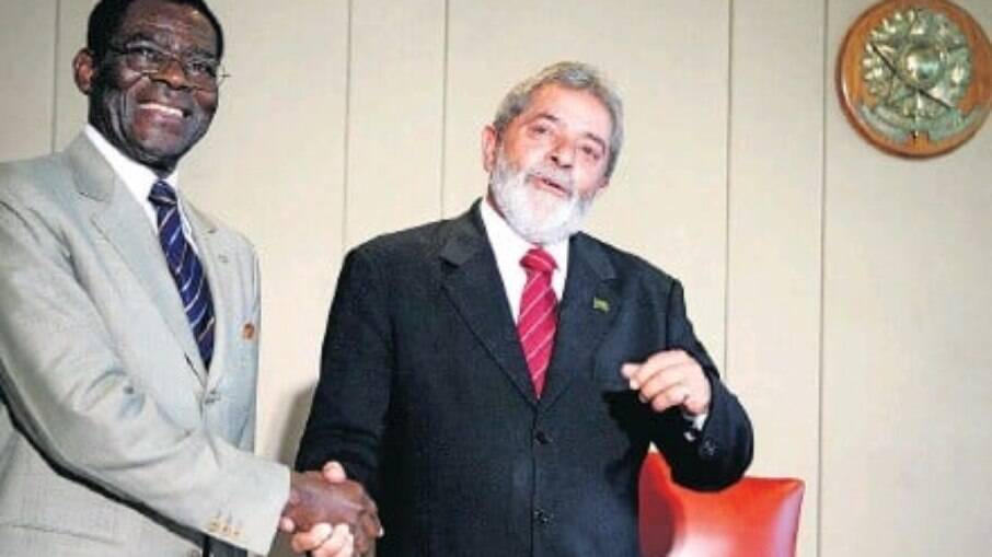 Lula e o Presidente da Guiné Equatorial, Teodoro Obiang, em 2008