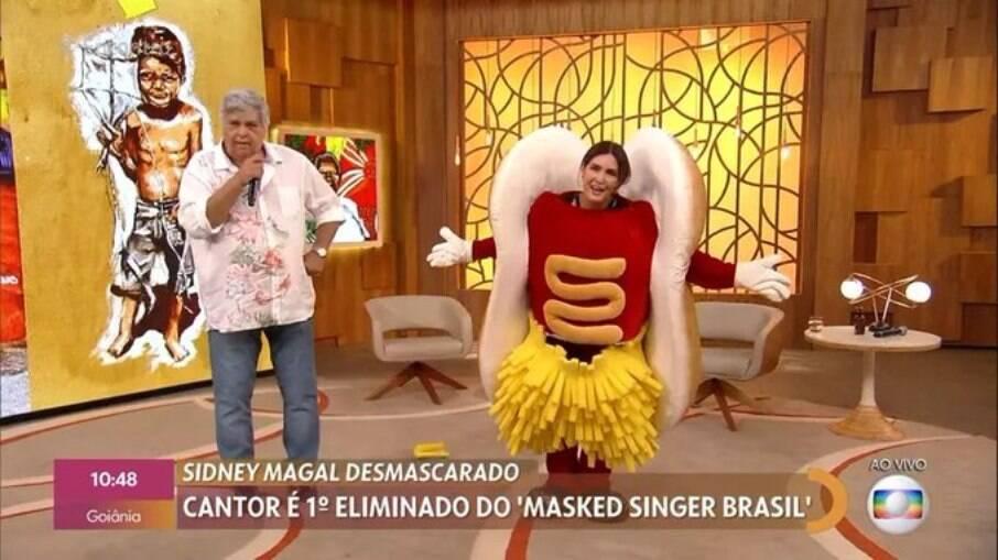 Fátima surge de 'dogão' do 'The Masked Brasil