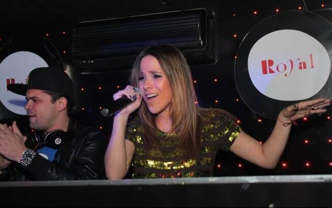 Wanessa agitou a noite no badalado Club Royal