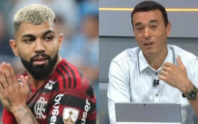 Nas redes, Rizek responde Gabigol após críticas e desmente atacante: 'Obrigado por lembrar de mim'