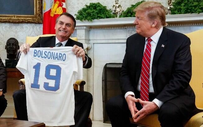 Bolsonaro e Trump falaram com a imprensa após reunião na Casa Branca