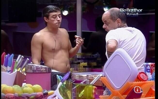 João Carvalho e Fael acreditam que a Prova do Líder será de resistência
