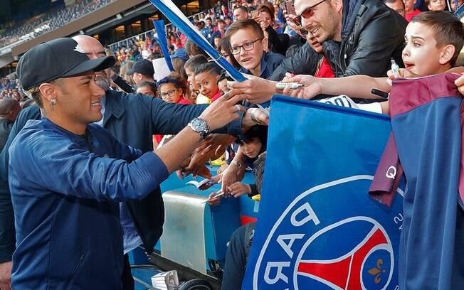 Neymar chegou ao PSG em 2017