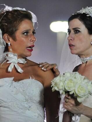Sueli e Fátima se casaram no final da primeira temporada de 'Tapas e Beijos', em 2011