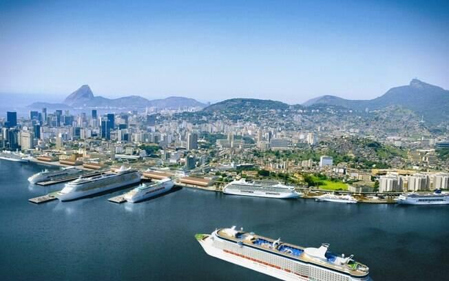 O Porto do Rio está sendo ampliado para  receber navios que servirão como acomodações nos  Jogos de 2016