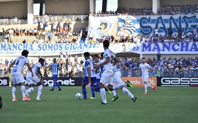 CSA e Santos empataram sem gols em Alagoas