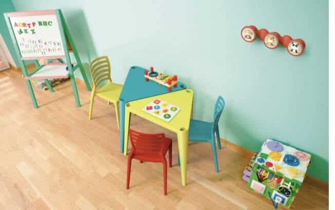É importante optar por móveis com materiais próprios para crianças nesse cantinho divertido