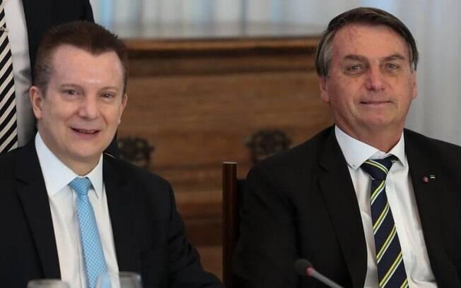 Celso Russomano, líder da pesquisa do Ibope, tem boa relação com o presidente Jair Bolsonaro