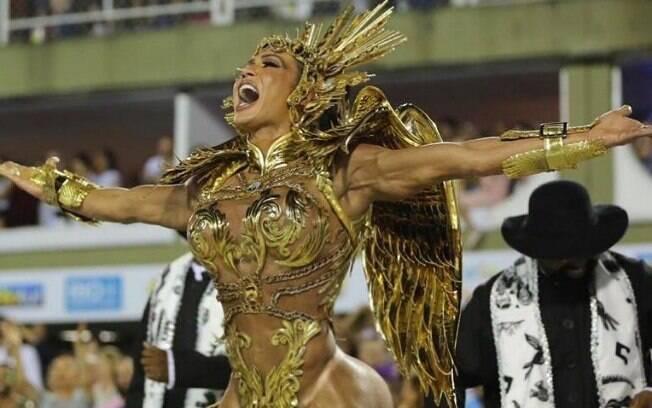 Após carnaval, Gracyanne Barbosa agradece União da Ilha