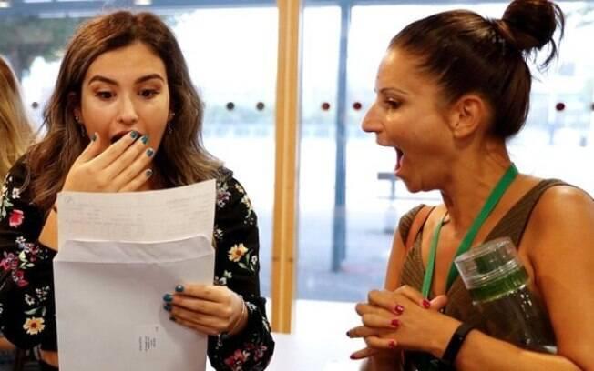 Muitos alunos tiveram um choque ao descobrir suas notas