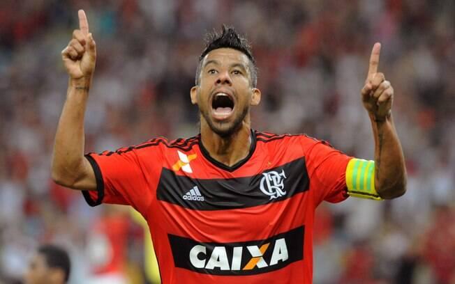 Léo Moura, lateral-direito e capitão do  Flamengo