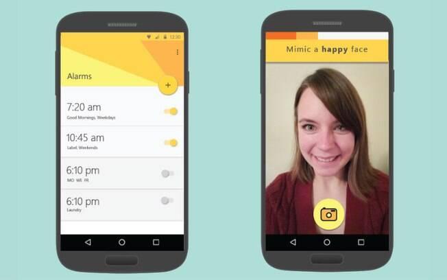 Aplicativo conta com três tipos de desafio para o usuário desligar alarme