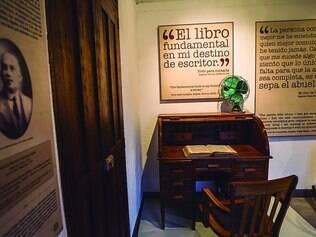 Lembranças. Área interna do museu criado na casa dos avós de Gabo, fonte das narrativas do autor