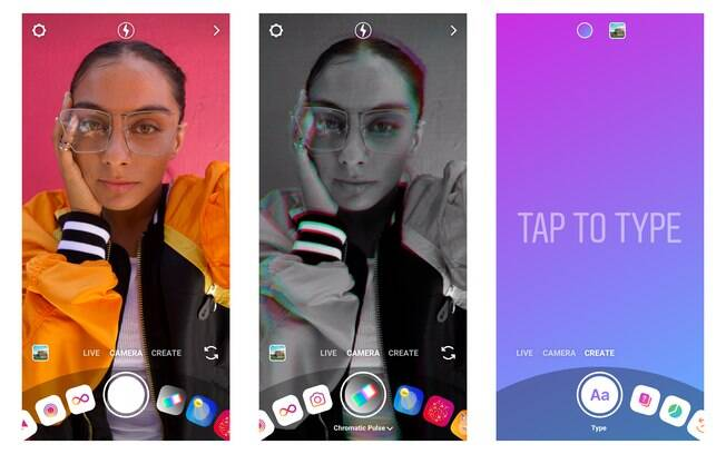 O Instagram anunciou algumas ferramentas novas no aplicativo, dentre elas uma nova câmera com Modo de Criação