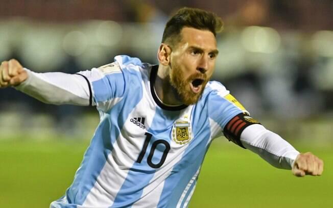 Messi marcou três e garante a Argentina na Copa do Mundo de 2018, na Rússia