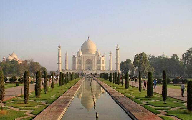O Taj Mahal é parada obrigatória para quem viaja para a Índia