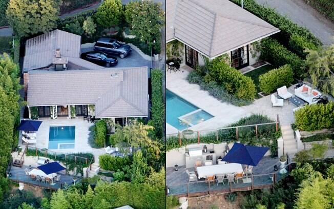 Jennifer Aniston e Justin Theroux: a casa é ótima para receber amigos
