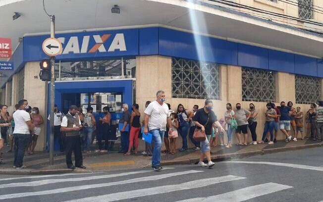 Caixa abre 3 agncias hoje em Campinas para pagar auxlio emergencial