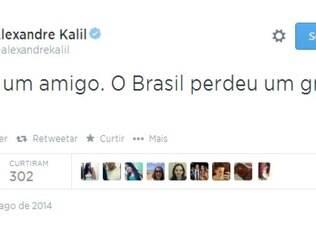 Kalil lamentou a morte de Eduardo Campos