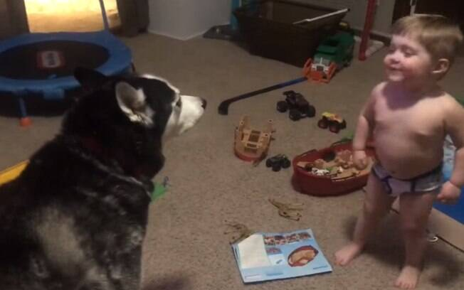 Braxton passou a uivar na tentativa de se comunicar com o cão Boston