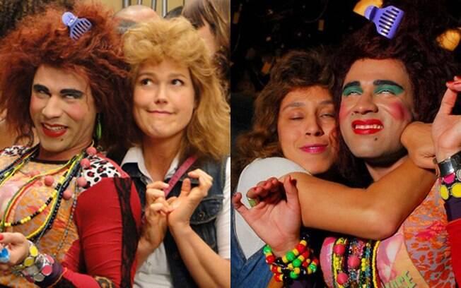 Xuxa e Thais Carauta caracterizadas de Janete. Aprovado?